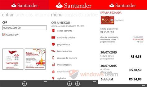 banco santander e banking banking santander finalmente est 225 dispon 237 vel para
