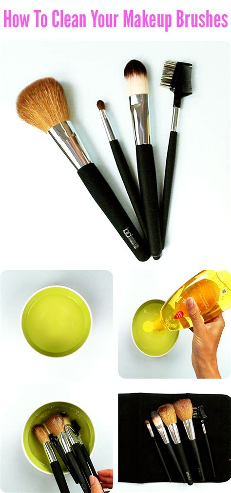 How To Wash Makeup Brushes At Home by How To Clean Your Makeup Brushes Hair Extensions