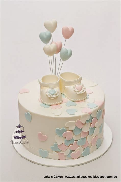 Baby Shower Cakes by Jake S Cakes Loveheart Baby Shower Cake Cakes