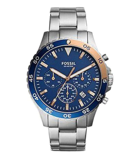 fossil ch3059 silver metal chronograph buy fossil