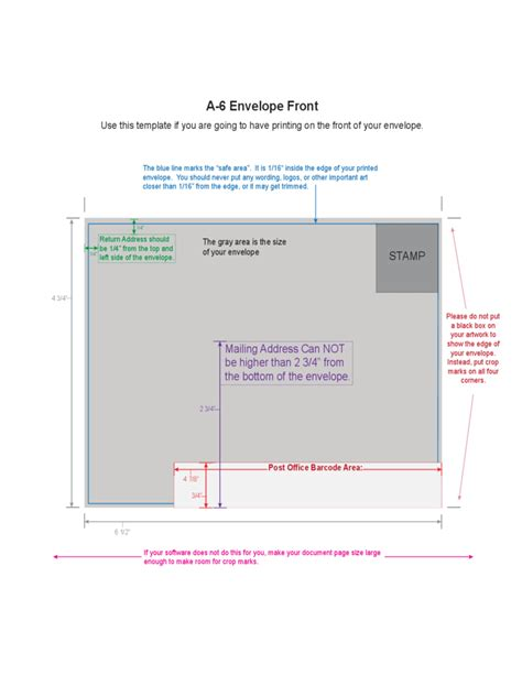 which side of the envelope does the st go on a6 envelope exle free download