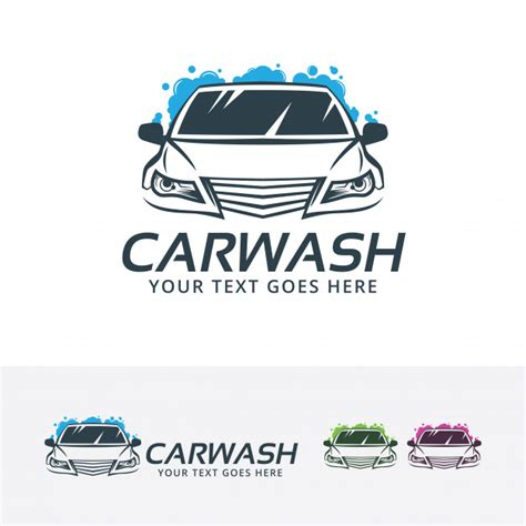 Car Wash Center Vector Logo Template Vector Premium Download Car Wash Logo Template Free