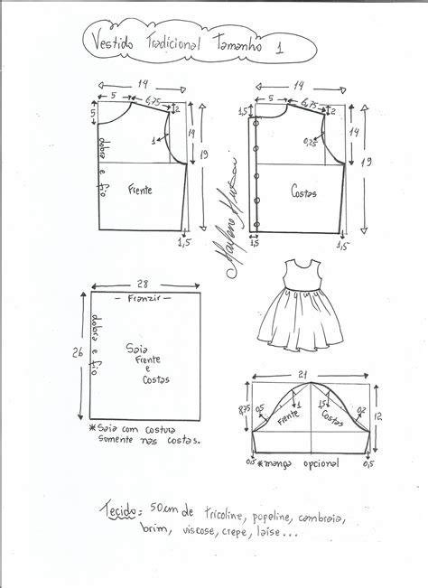 esquema de vestido vestido tradicional diy marlene mukai molde infantil