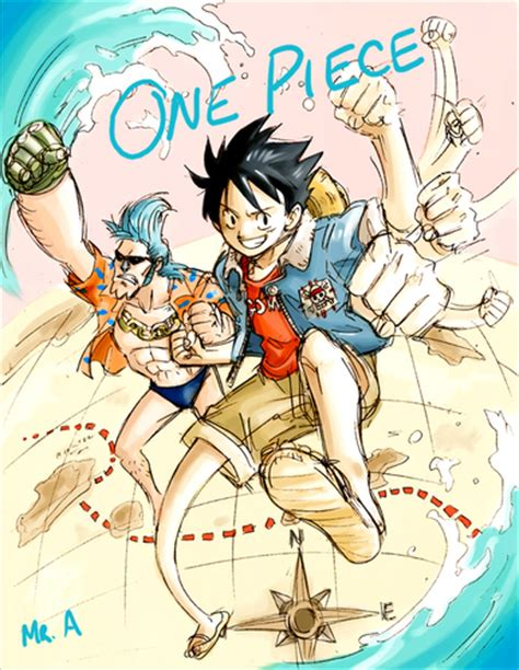 one piece tattoo fan art one piece images luffy and franky hd wallpaper and