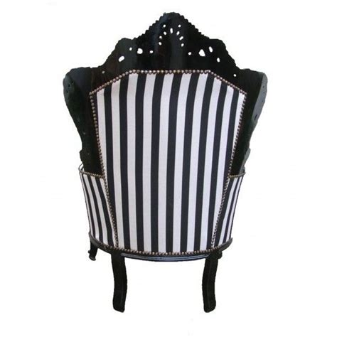 Black And White Striped Accent Chair Grand Baroque Style Armchair Striped Black And White And Black Wood 515 Liked On Polyvore