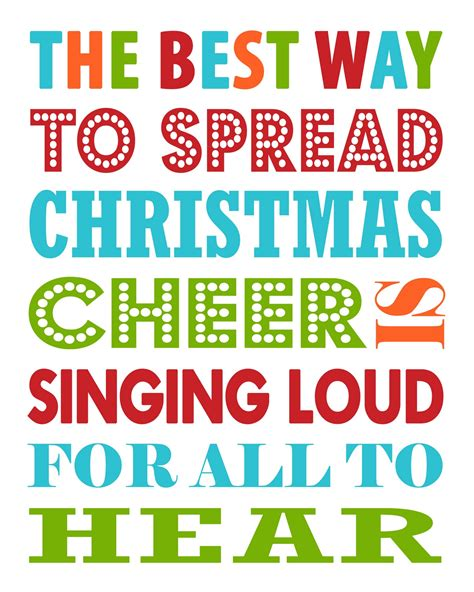 free christmas printable the best way to spread
