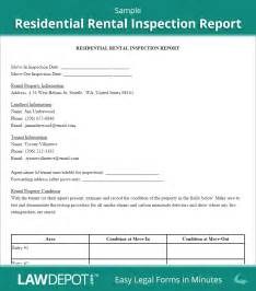 Commercial Property Inspection Report Template by Rental Inspection Report Property Inspection Checklist