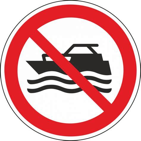 Aufkleber Boot by Quot Maschinenbetriebene Boote Verboten Quot Aufkleber F 252 R Innen