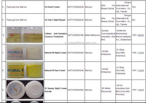 Pasaran Air Di Malaysia badan sihat hati ceria produk kosmetik yang diharamkan di