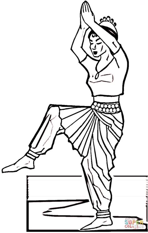Indian Dance Coloring Online Free Coloring Pages Trading