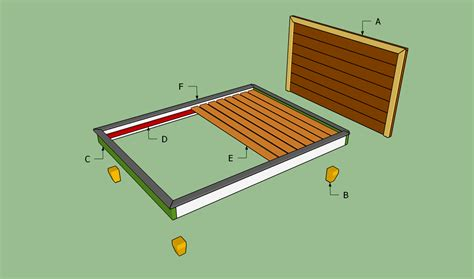 pdf diy queen size platform bed frame plans download qb playhouse plans woodideas