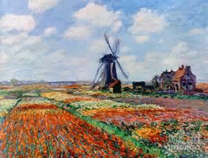 Dutch Masters Flowers - monet tulip fields 1886 by granger