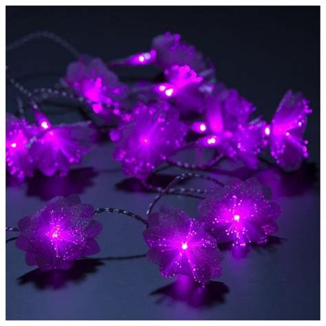 lights tesco buy tesco lights 20 pink flowers battery operated from