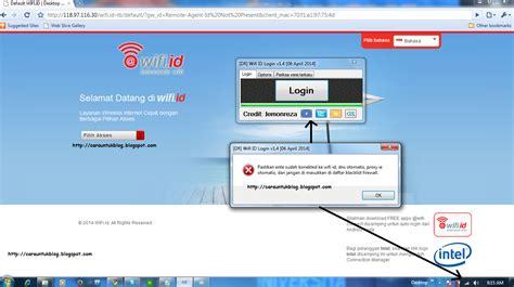 Alat Wifi Id tips login wifi id tanpa password dan username cara
