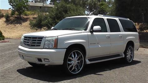 2003 Cadillac Escalade Esv For Sale 2003 Cadillac Escalade Esv On 24 S Nav Rear Ent For Sale