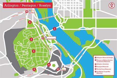 washington dc map pentagon pentagon arlington rosslyn the landscape architect s