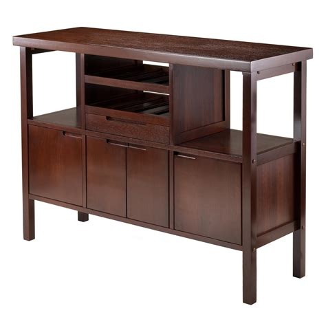 amazon com winsome diego buffet sideboard table brown