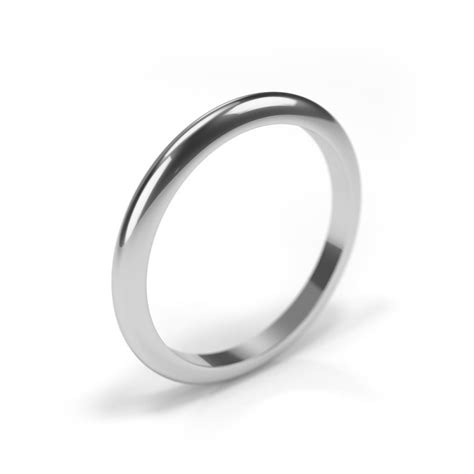 18ct white gold wedding ring 2mm band house of diamonds