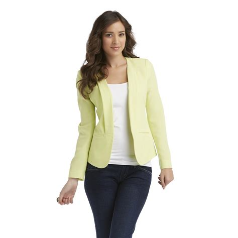 Style Ideas 50s Style Cropped Colllarless Jacket by Attention S Collarless Shaped Chiffon Blazer