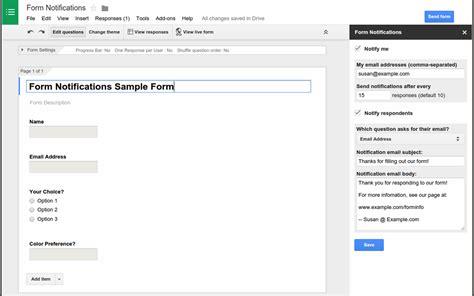google form set it up