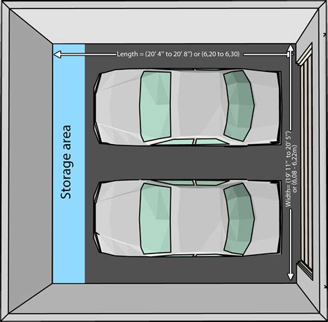 Double Garage Dimensions by The Dimensions Of An One Car And A Two Car Garage