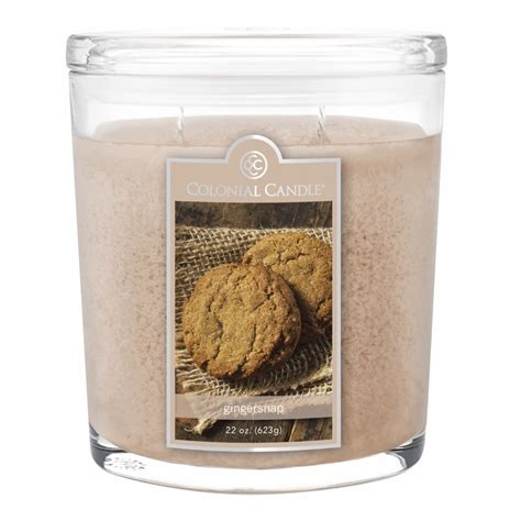 Colonial Candle New Gingersnap 22 Oz Oval Jar Colonial Candle