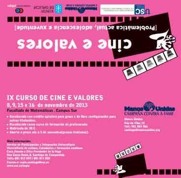 lecciones de cine curso de cine y valores de manos unidas y la universidad de santiago