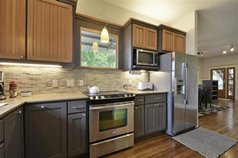 two color kitchen cabinet ideas two color ideas for country kitchen cabinet with laminate