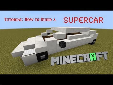 How To Make Lamborghini Car Minecraft Lamborghini Style Supercar Tutorial Minecraft