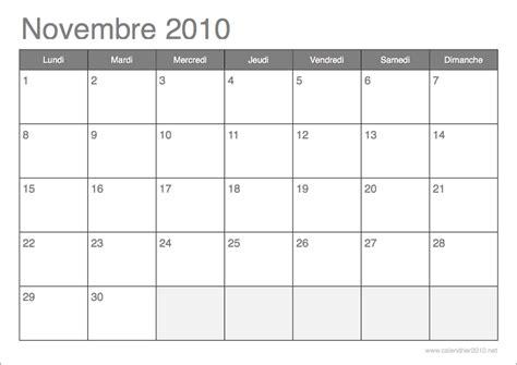Calendrier Novembre 2010 Calendrier 2010 192 Imprimer Par Mois