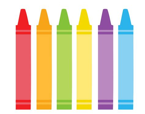 crayons clipart colorful crayons clipart free stock photo domain