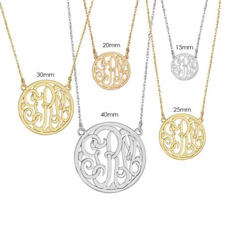 how to make monogram jewelry classic halo monogram