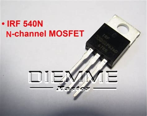 transistor mosfet irf540n irf540n mosfet diemme master di davide mognetti