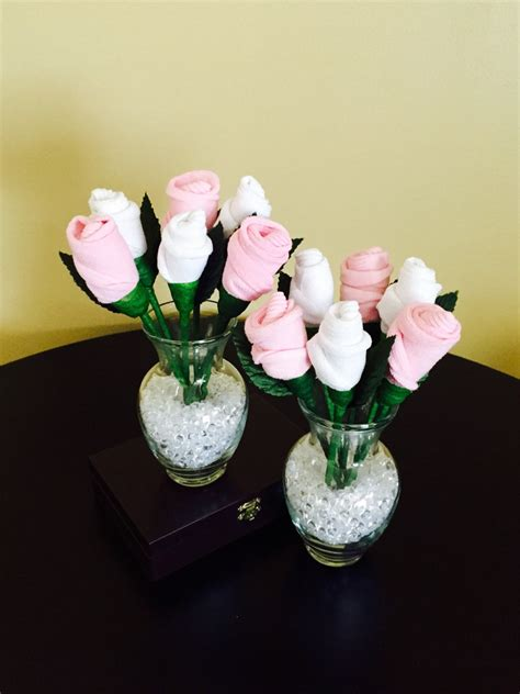 sock bouquet baby sock bouquet pink and white sock roses baby shower