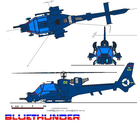 Free Blueprint ah 1983 blue thunder attack helicopter romulan encyclopedia