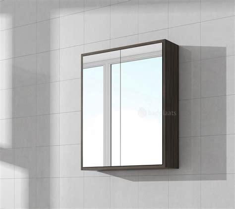 spiegelkast smal spiegelkast cuba 600 x 160 x 720mm donker eiken badplaats