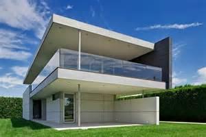 Modern Concrete Home Plans Grass Landscape For Modern Concrete Home Plans With White
