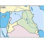 Medio Oriente Mappa Gratuita Muta Cartina