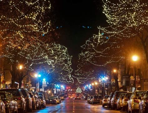 christmas lights in downtown frederick maryland photorator