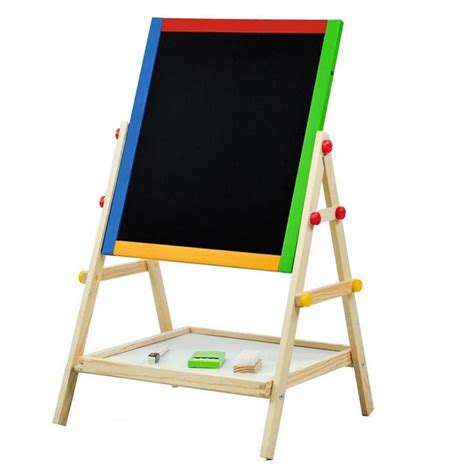 2in1 Artist Easel Terbaru wooden standing easel for adjustable sided drawing board w tray ebay