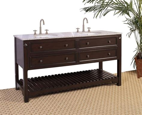 68 bathroom vanity 68 inch double sink bathroom vanity with open shelf uvlf3968