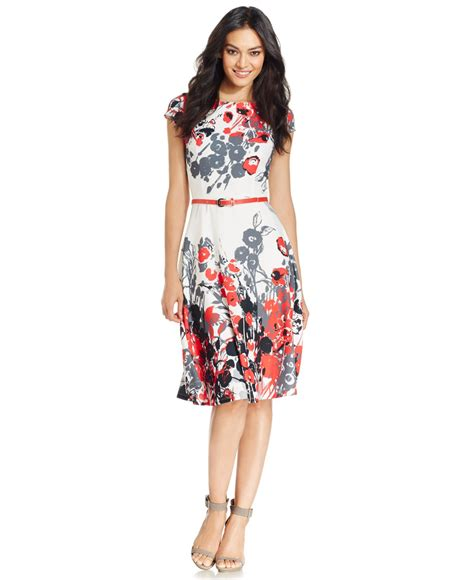 nine west floral print dress