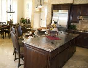 Walnut Color Kitchen Cabinets Pictures Of Kitchens Traditional Wood Walnut Color Kitchen 10
