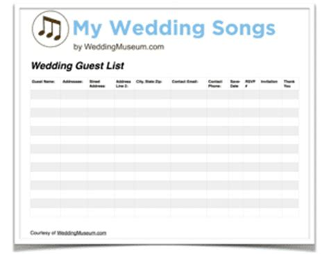 Wedding Song Pdf by Wedding Worksheets Tools My Wedding Songs
