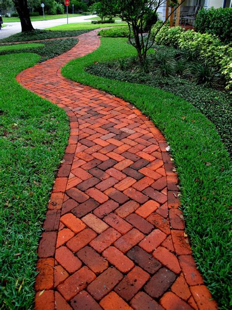 brick herringbone walkway concrete pavers clay brick paver driveways st petersburg fl