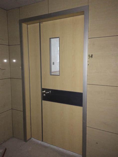 modern hospital open door