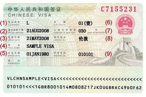 Infos Zum China Visum Anhand Eines Muster