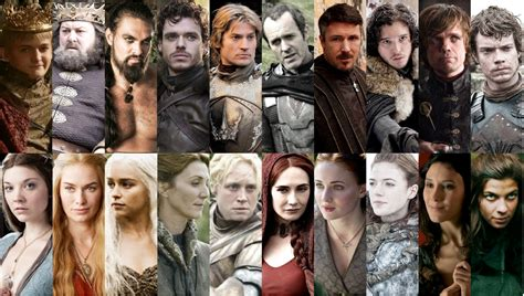 cast of game of thrones with pictures who s your favorite game of thrones character