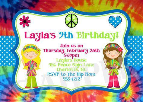 Tie Dye Baby Shower Invitations by Tie Dye Birthday Invitations Baby Shower