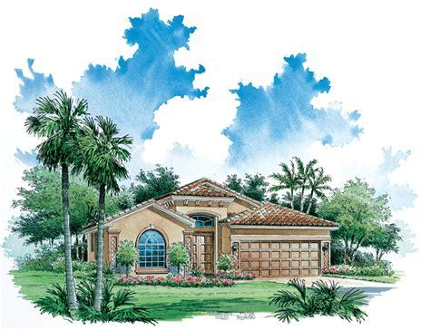 one story mediterranean mediterranean rendering 1 story mediterranean house plans home floor plan 1527 0331